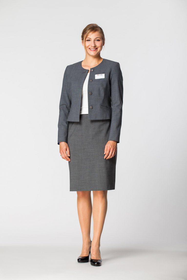 Żakiet damski służbowy spódnica DZK1212